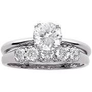 wedding engagement rings miabella 1 4 carat t w diamond three engagement ring in