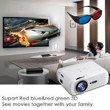 home theater projector 1080p 7000 lumen full hd 1080p led lcd 3d vga hdmi atv home theater