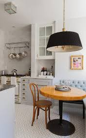 Eat In Kitchen Table French Eat In Kitchen With Gray Banquette And Wood And Iron Cafe