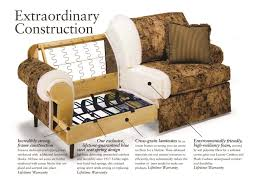 exposed wood frame sofa flexsteel latitudes ballard contemporary chair and ottoman set