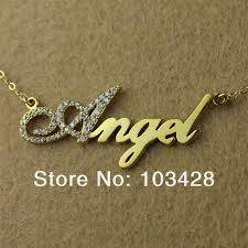 name necklace store images Capital letter with birthstones name necklace personalizedperfectly jpg