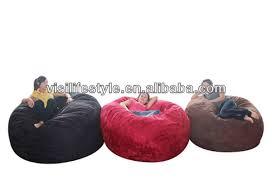 giant faux fur cover foam bean bag fat sack view bean bag visi