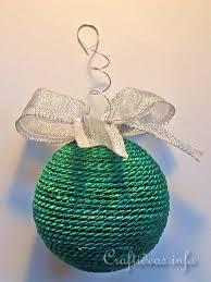 yarn wrapped styrofoam ornament decoration ideas