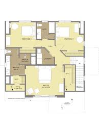the tumalo bungalow design second floor plan craftsman style