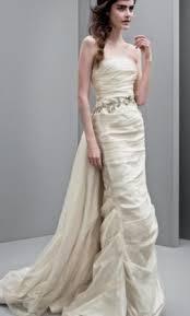 jeweled wedding dresses vera wang white vw351231taffeta column gown with jeweled vine belt