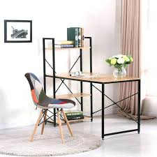 bureau bois noir bureau bois et noir bureau bois metal en industriel mactal noir
