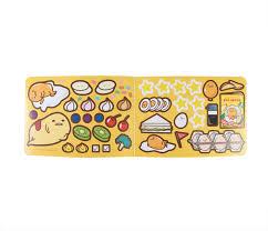 gudetama sticker album coloring page food sanrio