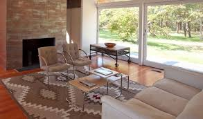 Tribal Area Rug Warming Up Mid Century Modern With Area Rugs Nw Rugs Furniture