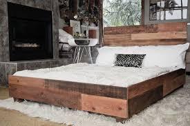 Wood Platform Bed Modern Wood Platform Bed Frame Loafey Mid Century Modern Solid