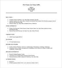 resume format exle cv format for doctors free c45ualwork999 org