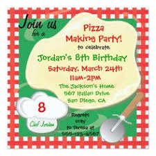 pizza birthday party invitations lgc little italy party card