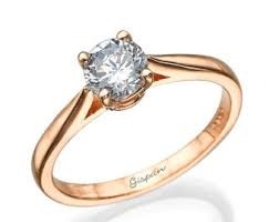 ring engagement gold flower cz solitaire ring engagement ring promise
