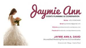 wedding planner business card our clients and feedback by jaymie ann events planning and