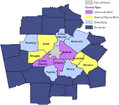 City Of Atlanta Map by Segregation U0027s New Geography The Atlanta Metro Region Race And