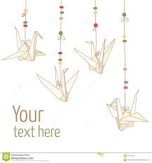 set of paper origami cranes stock vector image 58113234