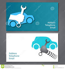Car Name Card Design Business Card For Auto Repair Stock Vector Image 39523550
