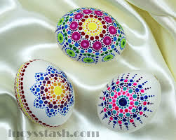 easter crafting how to create dotted easter eggs lucy u0027s stash