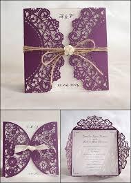 Wedding Invitations Purple 10 Of The Best Laser Cut Wedding Invitations