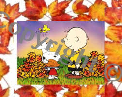 snoopy thanksgiving etsy