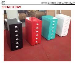 Ikea Red Cabinet Slim Six Drawer Vertical Red Color Steel Labels Storage Cabinet