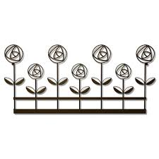 plastec 11 in x 24 in rose garden wall decor steel wd208db the