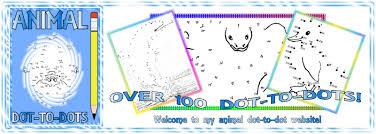 easy printable animal dot to dots for kids