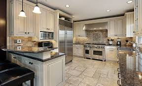 white kitchen cabinets black tile floor 30 antique white kitchen cabinets design photos