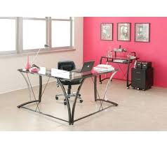 Desk Office Max Glass Desk Office Depot Z Line Glass Top L Shaped Desk Black