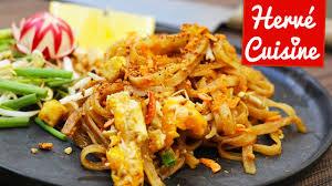 image de recette de cuisine pad ou nouilles sautées la recette thailandaise