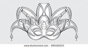 joker face mask hand drawn vector stock vector 695191033