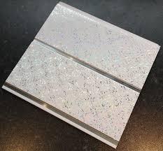 dbs bathrooms platinum white sparkle chrome 8mm wall cladding
