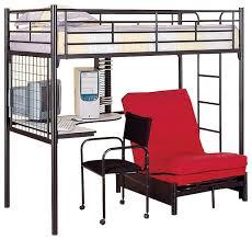 black metal twin loft bed with desk coaster loft bed with desk and futon chair coaster max twin loft