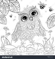 flora coloring pages art color therapy anti stress coloring stock vector 318548270