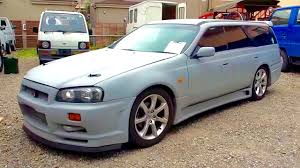 nissan stagea 2000 nissan stagea rs four with skyline bnr34 gt r front
