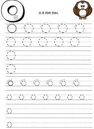 all worksheets letter o tracing worksheets printable