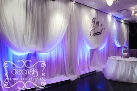 wedding backdrop led a cinderalla up style wedding reception decoration