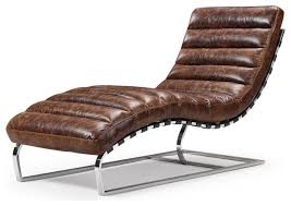 Chaise Lounge Contemporary Vintage Leather Chaise Lounge Contemporary Indoor Chaise