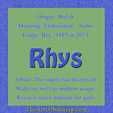 Mean Names The Art Of Naming Rhys