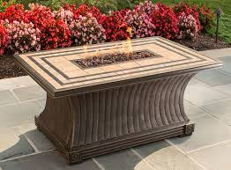 Patio Furniture With Gas Fire Pit by Tk Classics Tuscan Porcelain Top Stainless Steel Propane Gas Fire