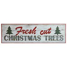 fresh cut trees metal wood sign a cottage in the city