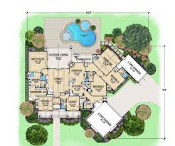 reverse ranch house plans with pool house design and office bets