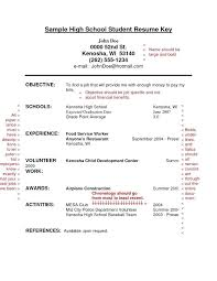 resume templates for high school students with no work experience resume exles college student sle for high school students