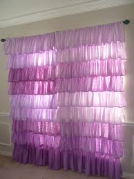 Girly Window Curtains by Ombre Ruffled Curtain For A Nursery Or Little Girls Room Etsy Com