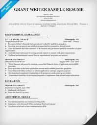 Technical Writing Resume Sample by Grant Writer Resume Template Http Resumecompanion Com Resume