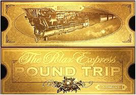 polar express free printable ticket christmas pinterest