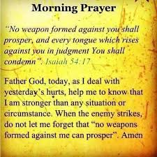 no weapon formed against me shall prosper inspirational quotes