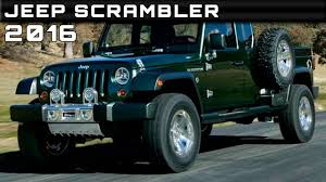 postal jeep conversion 2016 jeep scrambler review rendered price specs release date youtube