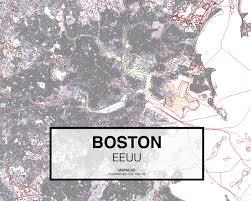 Map Boston Rub Map Boston U2013 Vibu