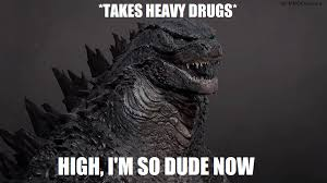 Godzilla Meme - meme stoned highschool graduate godzilla by mmdcharizard on
