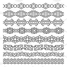 asian border and frame ornaments illustrations creative market